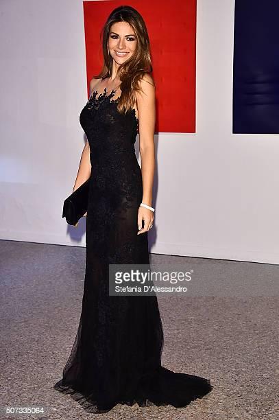 Alessia Ventura attends Alessandro Martorana Birthday Party held at La Permanente on January 28 2016 in Milan Italy