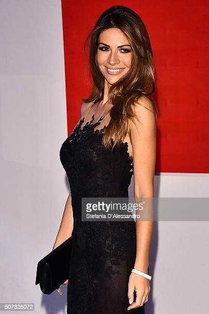 Alessia Ventura attends Alessandro Martorana Birthday Party held at La Permanente on January 28 2016 in Milan Italy