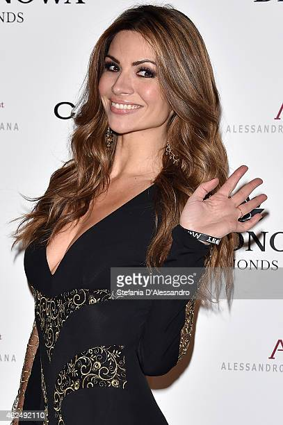 Alessia Ventura attends Alessandro Martorana's birthday party on January 29 2015 in Milan Italy