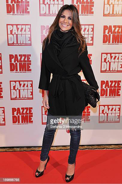 Alessia Ventura attends 'Pazze di Me' Premiere at Cinema Odeon on January 22 2013 in Milan Italy