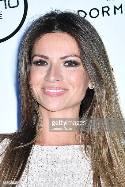 Alessia Ventura attends photocall for Alessandro Martorana party on January 29 2017 in Milan Italy