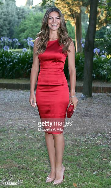 Alessia Ventura attends RAI Yearly TV Show Schedule at Villa Piccolomini on June 25 2015 in Rome Italy