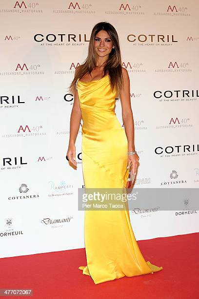 Alessia Ventura attends the Alessandro Martorana birthday party at Four Seasons Hotel on March 6 2014 in Milan Italy