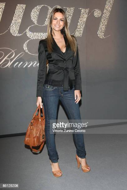 Alessia Ventura attends the Blugirl show as part of Milan Fashion Week Womenswear Autumn/Winter 2009 on February 26 2009 in Milan Italy