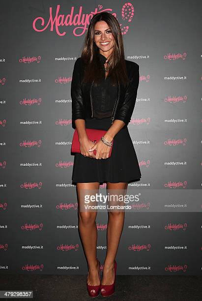 Alessia Ventura attends the Maddalena Corvaglia Presents Maddyctive Web Magazine at Old Fashion Cafe on March 17 2014 in Milan Italy