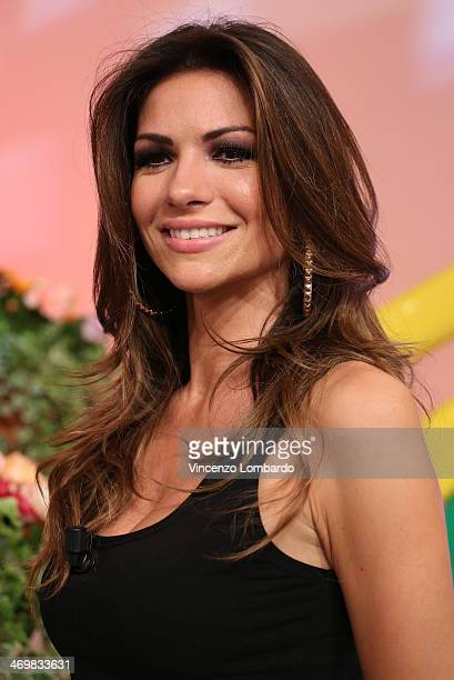 Alessia Ventura attends the 'Quelli che il Calcio' TV Show on February 16 2014 in Milan Italy