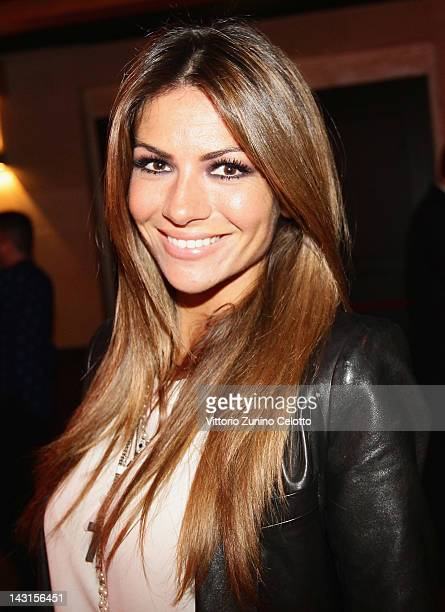 Alessia Ventura attends the 'Royal Oak 40 Years From AvantGarde to Icon' party at the Old Fashion Cafe on April 19 2012 in Milan Italy
