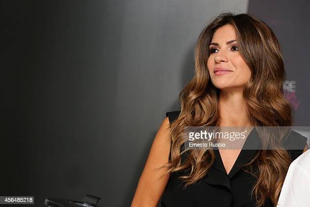 Alessia Ventura attends the 'The HundredFoot Journey' photocall at Hotel Radisson Blu on October 1 2014 in Rome Italy