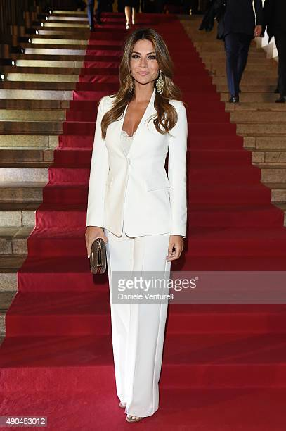 Alessia Ventura attends Vogue China 10th Anniversary at Palazzo Reale on September 28 2015 in Milan Italy