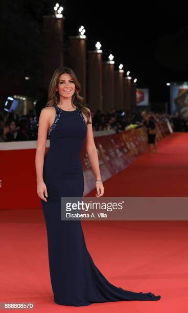 Alessia Ventura walks a red carpet for Hostiles during the 12th Rome Film Fest at Auditorium Parco Della Musica on October 26 2017 in Rome Italy
