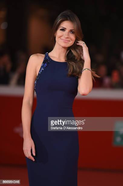 Alessia Ventura walks a red carpet for 'Hostiles' during the 12th Rome Film Fest at Auditorium Parco Della Musica on October 26 2017 in Rome Italy