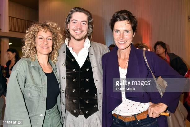 Alessija Lause Frederic Boehle and Julia Bremermann attend the Rio Reiser premiere Mein Name Ist Mensch at Komoedie am Kurfuerstendamm at...