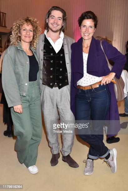 "Alessija Lause, Frederic Boehle and Julia Bremermann attend the Rio Reiser premiere ""Mein Name Ist Mensch"" at Komoedie am Kurfuerstendamm at..."