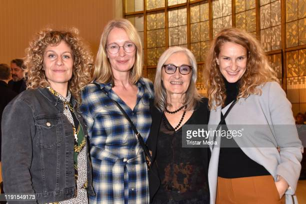 Alessija Lause Katja Weitzenboeck Eleonore Weisgerber Chiara Schoras during the Skylight' theater premiere at Schiller Theater on December 1 2019 in...