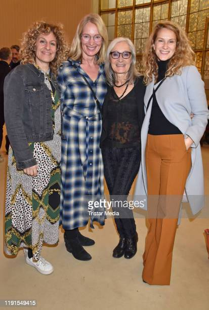 "Alessija Lause, Katja Weitzenboeck, Eleonore Weisgerber, Chiara Schoras during the ""Skylight' theater premiere at Schiller Theater on December 1,..."