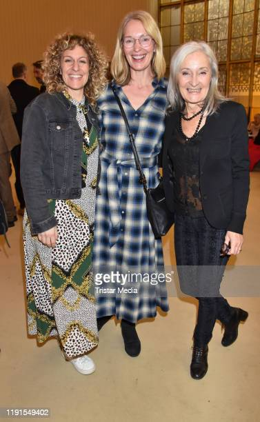 "Alessija Lause, Katja Weitzenboeck, Eleonore Weisgerber during the ""Skylight' theater premiere at Schiller Theater on December 1, 2019 in Berlin,..."