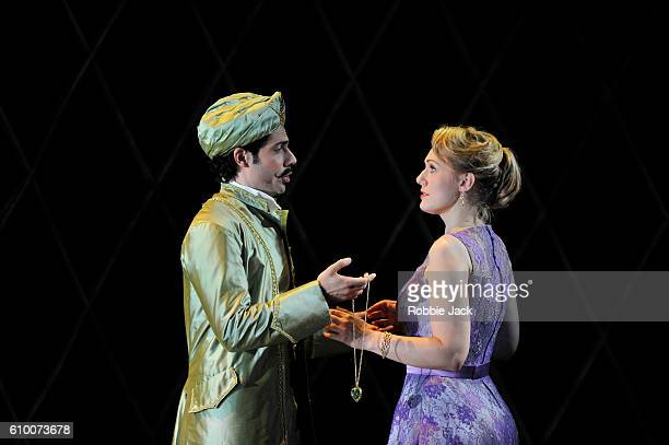 Alessio Arduini as Guglielmo and Angela Brower as Dorabella in the Royal Opera's production of Wolfgang Amadeus Mozart's Cosi Fan Tutte directed by...