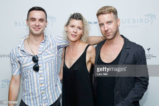 Alessio Berdicari Julie Schumacher and Daniel Mckernan attend the Bluebird London New York City launch party at Bluebird London on September 5 2018...