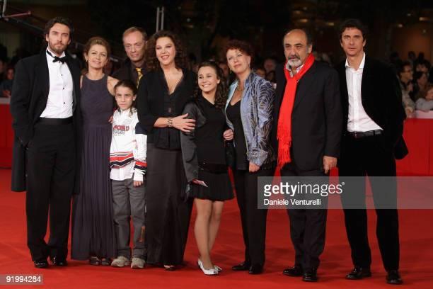 Alessio Boni Amanda Sandrelli guest Amanda Sandrelli Paola Tiziana Cruciani Alessandro Haber Blas RocaRey and family attend the 'Christine Cristina'...