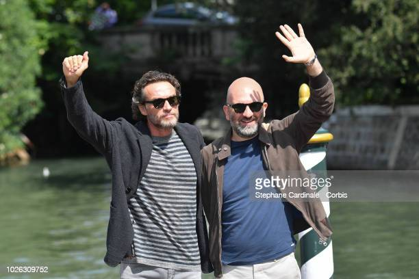 Alessio Boni and Donato Carrisi are seen arriving at the 75th Venice Film Festival on September 2 2018 in Venice Italy