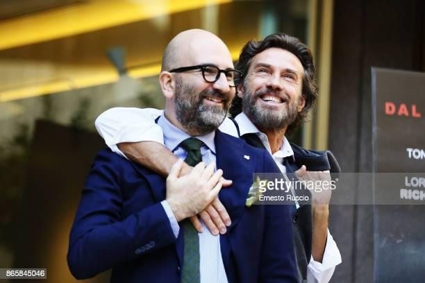 Alessio Boni and Donato Carrisi attend 'La Ragazza Nella Nebbia' photocall at Hotel Visconti on October 24 2017 in Rome Italy