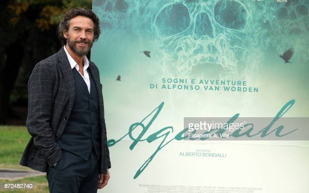 Alessio Boni attends 'Agadah' photocall at Villa Borghese on November 10 2017 in Rome Italy