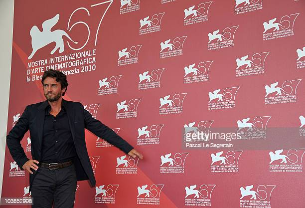 Alessio Boni attends the '20 Sigarette' and 'Come Un Soffio' photocall during the 67th Venice Film Festival at the Palazzo del Casino on September 5...