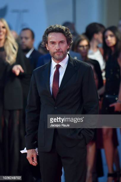 Alessio Boni walks the red carpet ahead of the 'The Sisters Brothers' screening during the 75th Venice Film Festival at on September 2 2018 in Venice...