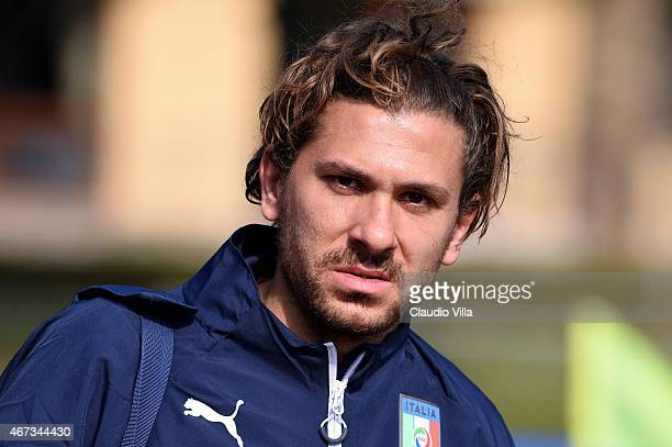 Alessio Cerci during Italy Training Session at Coverciano on March 23 2015 in Florence Italy