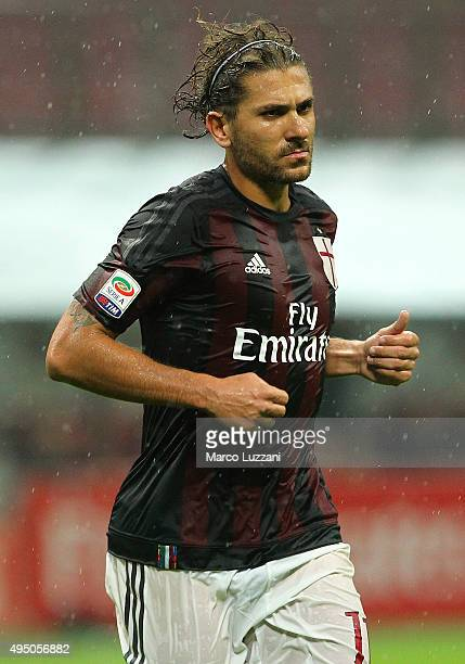 Alessio Cerci of AC Milan looks on during the Serie A match between AC Milan and AC Chievo Verona at Stadio Giuseppe Meazza on October 28 2015 in...