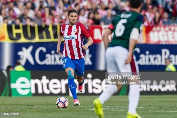 Alessio Cerci of Atletico de Madrid in action during the La Liga match between Atletico de Madrid vs Osasuna at Estadio Vicente Calderon on 15 April...