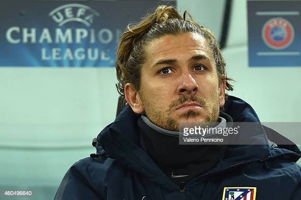 Alessio Cerci of Club Atletico de Madrid sits on the bench prior to the UEFA Champions League group A match between Juventus and Club Atletico de...