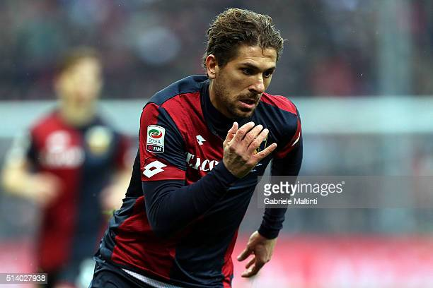 Alessio Cerci of Genoa CFC in action during the Serie A match between Genoa CFC and Empoli FC at Stadio Luigi Ferraris on March 6 2016 in Genoa Italy