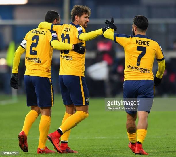 Alessio Cerci of Hellas Verona celebrates after scoring the opening goal during the Serie A match between Spal and Hellas Verona FC at Stadio Paolo...