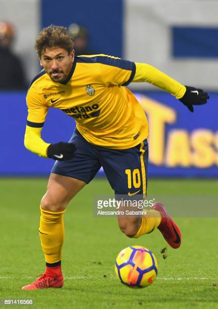Alessio Cerci of Hellas Verona in action during the Serie A match between Spal and Hellas Verona FC at Stadio Paolo Mazza on December 10 2017 in...