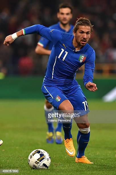 Alessio Cerci of Italy in action during the International Friendly match between Italy and Albania at Luigi Ferraris on November 18 2014 in Genoa...
