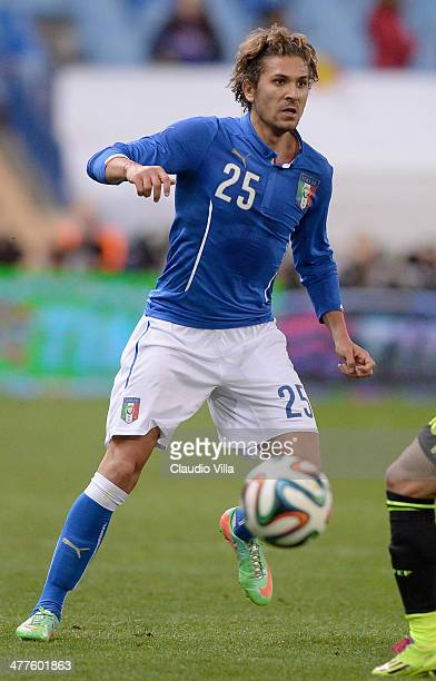 Alessio Cerci of Italy in action during the international friendly match between Spain and Italy on March 5 2014 in Madrid Spain