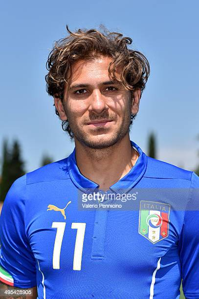 Alessio Cerci of Italy poses during a portrait session ahead of the 2014 FIFA World Cup at Coverciano on June 3 2014 in Florence Italy
