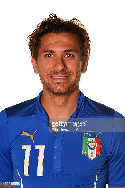 Alessio Cerci of Italy poses during the official FIFA World Cup 2014 portrait session on June 6 2014 in Rio de Janeiro Brazil