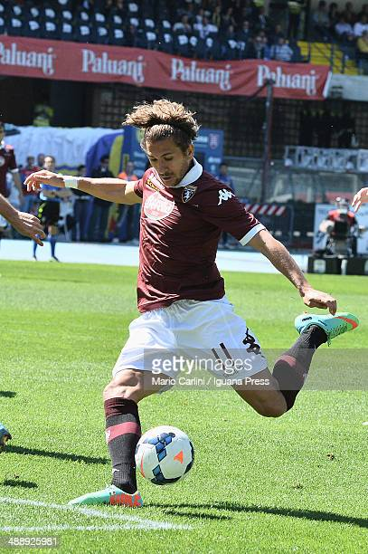 Alessio Cerci of Torino FC in action during the Serie A match between AC Chievo Verona and Torino FC at Stadio Marc'Antonio Bentegodi on May 4 2014...