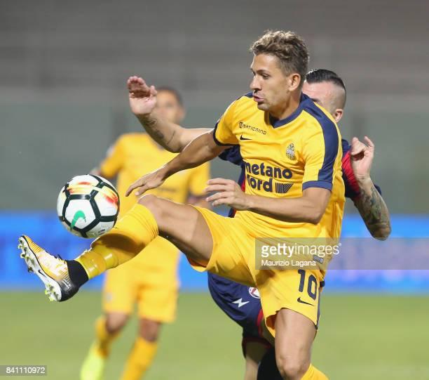 Alessio Cerci of Verona during the Serie A match between FC Crotone and Hellas Verona FC at Stadio Comunale Ezio Scida on August 27 2017 in Crotone...