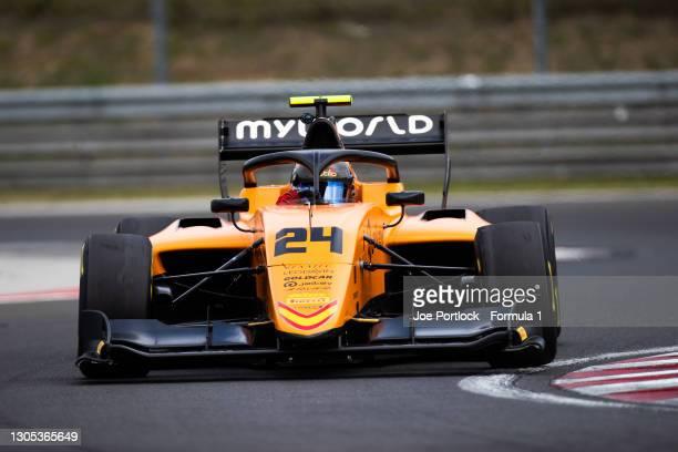 Alessio Deledda Campos Racing during the Hungaroring April Testing at Hungaroring on April 17, 2019 in Hungaroring, Hungary.