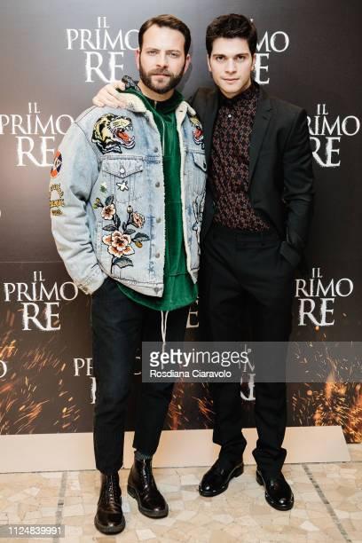 Alessio Lapice and Alessandro Borghi attend Il Primo Re photocall at Anteo Spazio Cinema on January 25 2019 in Milan Italy