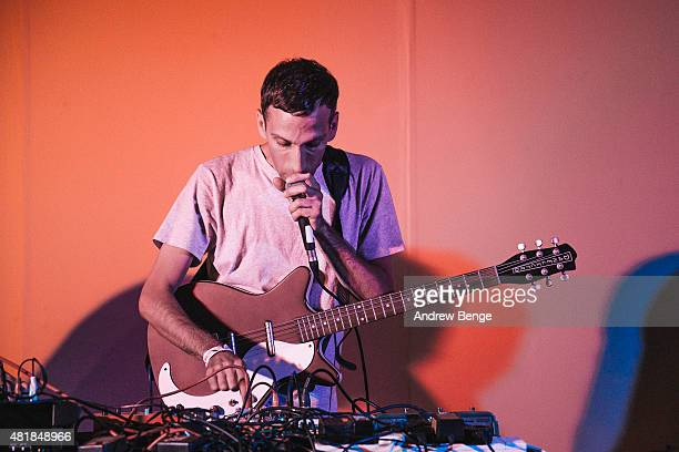 Alessio Natalizia of Walls performs at the Millennium Gallery Stage at Tramlines Festival on July 24 2015 in Sheffield United Kingdom