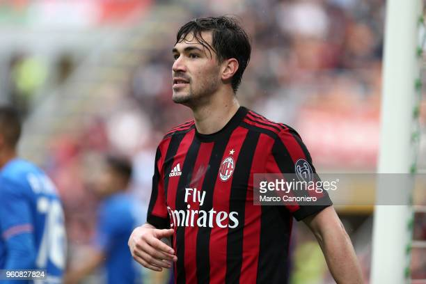 Alessio Romagnoli of Ac Milan during the Serie A football match between AC Milan and Acf Fiorentina Ac Milan wins 51 over Acf Fiorentina