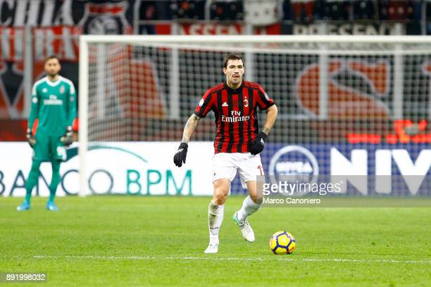 Alessio Romagnoli of Ac Milan in action during the Tim Cup football match between AC Milan and Hellas Verona Fc Ac Milan wins 30 over Hellas Verona Fc