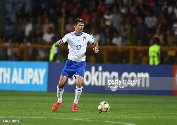 Alessio Romagnoli of Italy in action during the UEFA Euro 2020 qualifier between Armenia and Italy at Republican Stadium after Vazgen Sargsyan on...