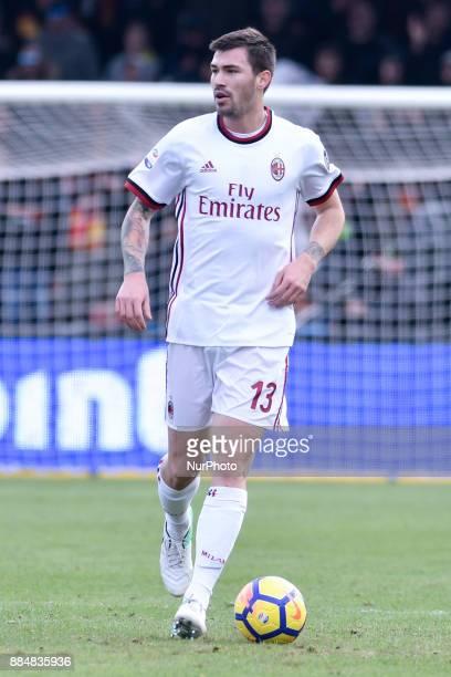 Alessio Romagnoli of Milan during the Serie A match between Benevento and Milan at Ciro Vigorito Stadium Benevento Italy on 3 December 2017