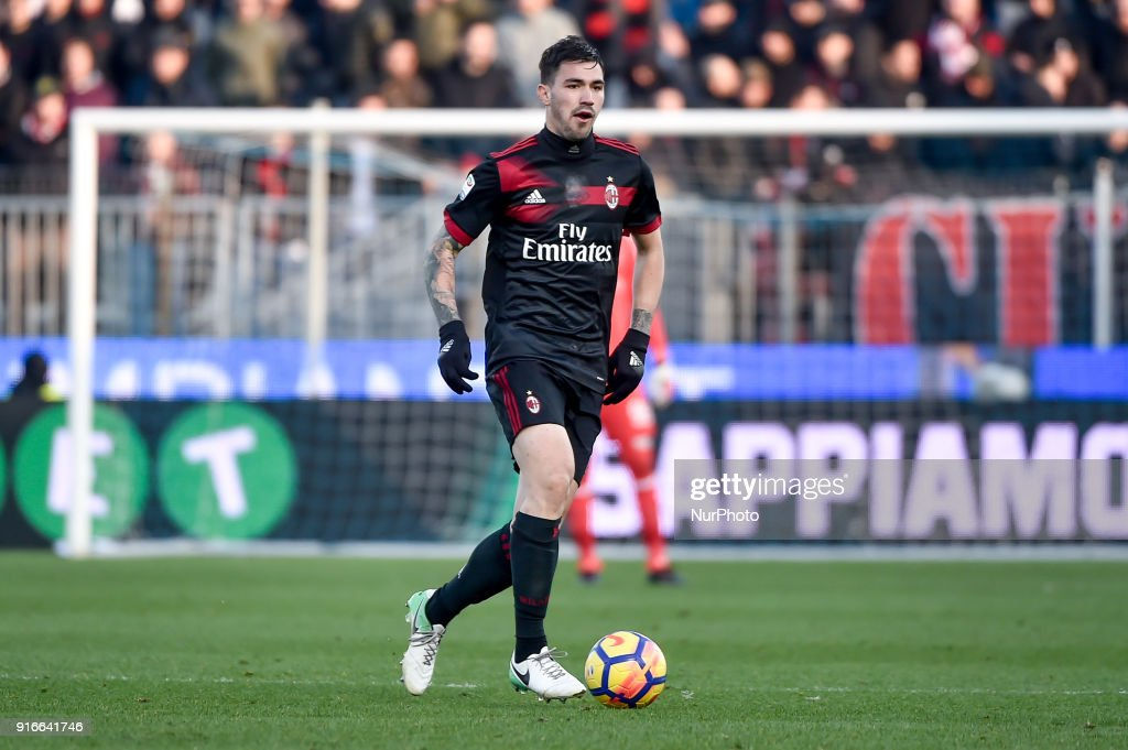 Alessio Romagnoli of Milan during the Serie A match between SPAL and AC Milan at Paolo Mazza Stadium, Ferrara, Italy on 10 February 2018.