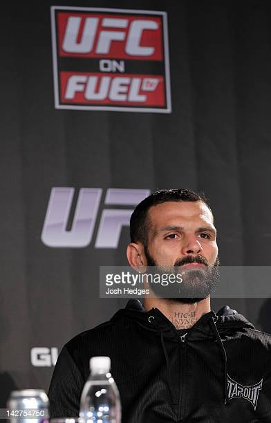 Alessio Sakara attends the UFC on Fuel TV prefight press conference at Clarion Hotel on April 12 2012 in Stockholm Sweden